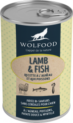 WOLFOOD WET FOOD LAMB & FISH DOGS